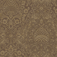 Brown Ethnic Damask