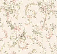 Arlington Floral Scroll Wallpaper EL3957 by York
