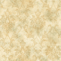 Beige Pineapple Damask
