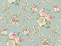Arlington Floral Scrolling Wallpaper EL3991 by York