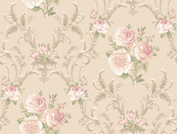 Arlington Floral Scrolling Wallpaper EL3992 by York