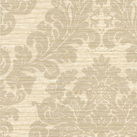 Anders Grey Grasscloth Damask