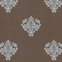 Astoria Brown Leafy Damask