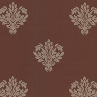 Astoria Dark Brown Leafy Damask
