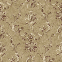 Baton Rouge Painterly Ornamental Damask Wallpaper NV6027 by York