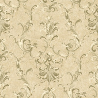 Baton Rouge Painterly Ornamental Damask Wallpaper NV6029 by York