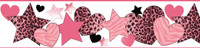 Diva Pink Hearts Stars Cheetah Border