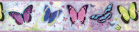 BFF Purple Butterflies And Stars Border
