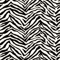 Alice Black Faux Zebra Stripes Wallpaper