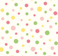 Circus Pink Polka Dot Wallpaper