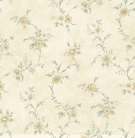 Elizabeth Cream Floral Trail Wallpaper