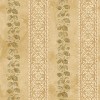 Baton Rouge Ornamental Leaf Trellis Stripe Wallpaper NV6093 by York