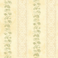 Baton Rouge Ornamental Leaf Trellis Stripe Wallpaper NV6094 by York