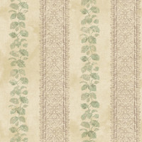 Baton Rouge Ornamental Leaf Trellis Stripe Wallpaper NV6095 by York