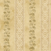 Baton Rouge Ornamental Leaf Trellis Stripe Wallpaper NV6096 by York