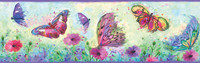 Ava Purple Butterfly Swoosh Border