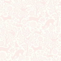 Anahi Light Pink Forest Fauna