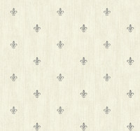 Black & White Cabana Fleur  De Lis Wallpaper  Ab1863 By York Wallcovering