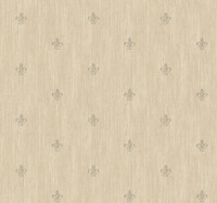 Black & White Cabana Fleur  De Lis Wallpaper  Ab1864 By York Wallcovering