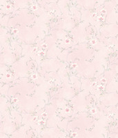 Capri Light Pink Floral Scroll