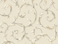 Black & White Acanthus Scr Oll Wallpaper Ab1962 By York Wallcovering
