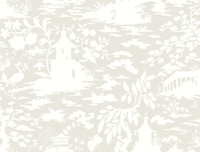Black & White Asian Scenic Wallpaper  Ab2005 By York Wallcovering