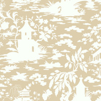 Black & White Asian Scenic Wallpaper  Ap7416 By York Wallcovering