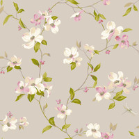 Ashford House Blooms Dogwood Wallpaper #AK7430