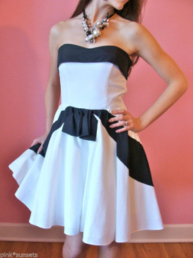 BETSEY JOHNSON Astro Pop DRESS Black White Retro Archive