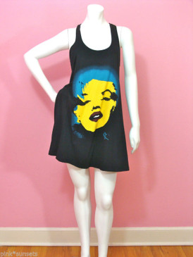Betsey Johnson Betsey Babe Marilyn Wink Tank Biggy Dress w/ Pockets