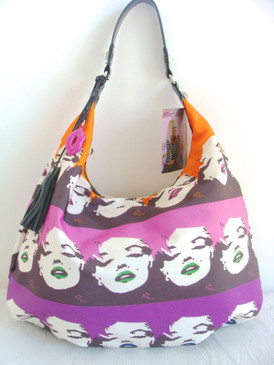 Betsey Johnson Betsey Babe Multi Face Marilyn Wink Hobo Bag