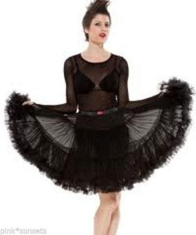 Betsey Johnson Crinoline Black Fluffy Petticoat Skirt