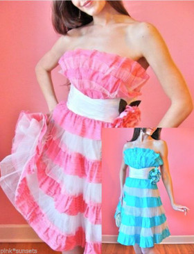 Betsey Johnson Rambling Rose Tea Party Dress Wedding Prom Cocktail Pink