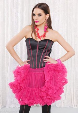 Betsey Johnson THE STANDARD CORSET ZIP Black Bustier Lace Up Top