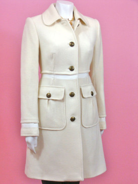 Juicy Couture Wool Coat Angel White