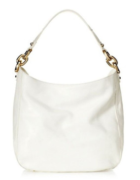 Juicy Couture Frankie WHite Leather Hobo XL Shoulder Bag