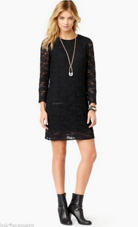 Juicy Couture Cire Lace Little Black Dress