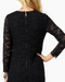 Juicy Couture Cire Lace Little Black Dress with exposed zipper