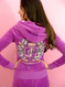 Juicy Couture Tracksuit Iconic Velour Hoodie pants Set