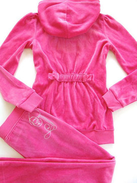 Juicy Couture Kids Girls Track Pink Silver Bling Tracksuit Hoodie Pants