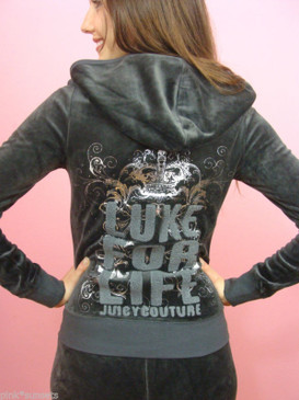 Juicy Couture Luxe for Life Velour Tracksuit Hoodie Pants Set