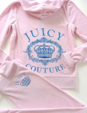 Juicy Couture Juicy Crown Original Jacket Velour Tracksuit Hoodie Pants
