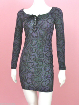 Betsey Johnson Snake Skin Opening Ceremony Dress Vintage Punk