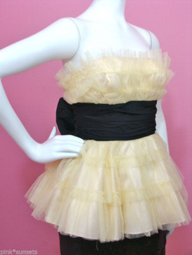 Betsey Johnson Tulle Strapless Date Evening Top