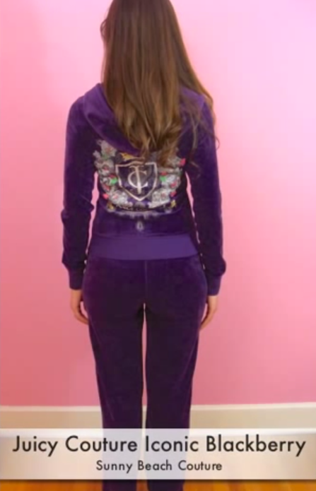 hot product search for genuine special for shoe Juicy Couture Track Iconic Velour Tracksuit Hoodie Pant Track Blackberry  Purple Sweats