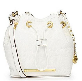 Brahmin Nepal White Lexie Drawstring Crossbody Shoulder Bag