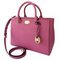 Michael Kors Kellen Medium Satchel Leather Handbag Bag Pink