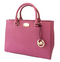 Michael Kors Kellen Medium Satchel Leather Handbag Bag Tulip