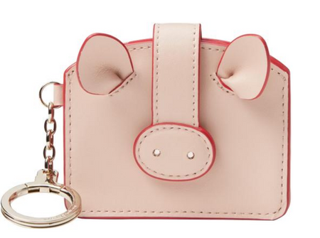 Kate Spade Year of the Pig Card Case Key Fob