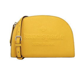Kate Spade Tori Larchmont Avenue Logo Crossbody Shoulder Bag  Yellow Daffodil